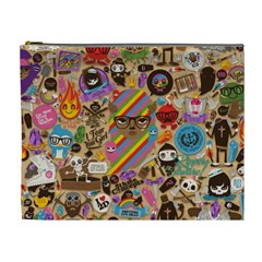 Background Images Colorful Bright Cosmetic Bag (xl) by Simbadda