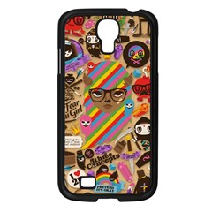Background Images Colorful Bright Samsung Galaxy S4 I9500/ I9505 Case (Black)