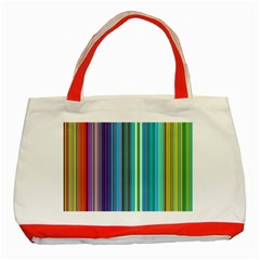 Color Stripes Classic Tote Bag (red) by Simbadda