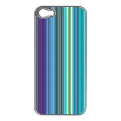 Color Stripes Apple Iphone 5 Case (silver) by Simbadda