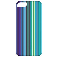 Color Stripes Apple Iphone 5 Classic Hardshell Case by Simbadda