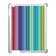 Color Stripes Apple Ipad 3/4 Case (white) by Simbadda