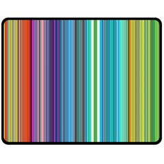 Color Stripes Double Sided Fleece Blanket (medium)  by Simbadda