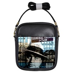 Al Capone  Girls Sling Bags by Valentinaart