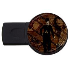 Charlie Chaplin  Usb Flash Drive Round (2 Gb) by Valentinaart