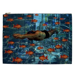 Urban Swimmers   Cosmetic Bag (xxl)  by Valentinaart