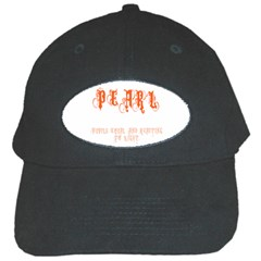 Pearl Black Cap by CannyMittsDesigns