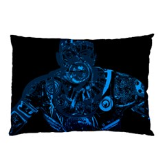 Warrior   Blue Pillow Case (two Sides) by Valentinaart