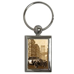 Vintage Old Car Key Chains (rectangle)  by Valentinaart