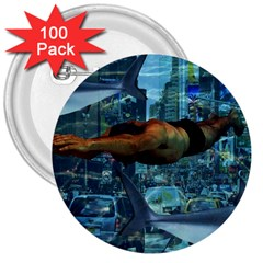 Urban Swimmers   3  Buttons (100 Pack)  by Valentinaart