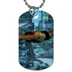 Urban Swimmers   Dog Tag (two Sides) by Valentinaart