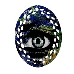 Mother Earth  Oval Filigree Ornament (two Sides) by Valentinaart