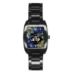 Mother Earth  Stainless Steel Barrel Watch by Valentinaart