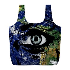 Mother Earth  Full Print Recycle Bags (l)  by Valentinaart