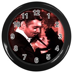 Gone With The Wind Wall Clocks (black) by Valentinaart
