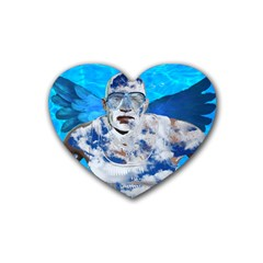 Swimming Angel Heart Coaster (4 Pack)  by Valentinaart
