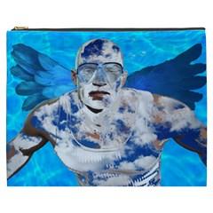 Swimming Angel Cosmetic Bag (xxxl)  by Valentinaart