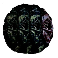 Cyber Kid Large 18  Premium Round Cushions by Valentinaart