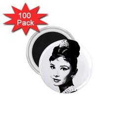 Audrey Hepburn 1 75  Magnets (100 Pack)  by Valentinaart