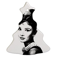 Audrey Hepburn Christmas Tree Ornament (two Sides) by Valentinaart