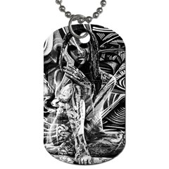 Gray girl  Dog Tag (Two Sides) by Valentinaart