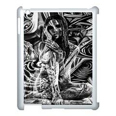 Gray Girl  Apple Ipad 3/4 Case (white) by Valentinaart