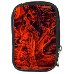 Red Girl Compact Camera Cases by Valentinaart