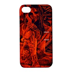 Red Girl Apple Iphone 4/4s Hardshell Case With Stand by Valentinaart