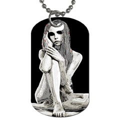 Stone Girl Dog Tag (two Sides) by Valentinaart