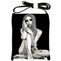Stone Girl Shoulder Sling Bags by Valentinaart