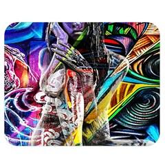 Graffiti Girl Double Sided Flano Blanket (medium)  by Valentinaart
