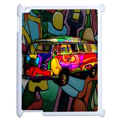 Hippie Van  Apple Ipad 2 Case (white) by Valentinaart