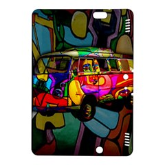 Hippie Van  Kindle Fire Hdx 8 9  Hardshell Case by Valentinaart