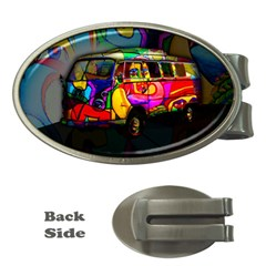 Hippie Van  Money Clips (oval)  by Valentinaart