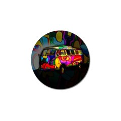 Hippie Van  Golf Ball Marker (4 Pack) by Valentinaart