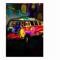 Hippie Van  Small Garden Flag (two Sides) by Valentinaart