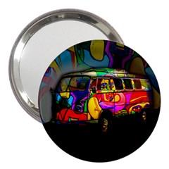 Hippie Van  3  Handbag Mirrors by Valentinaart