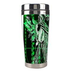 Cyber Angel Stainless Steel Travel Tumblers by Valentinaart