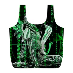 Cyber Angel Full Print Recycle Bags (l)  by Valentinaart