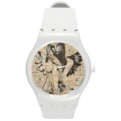 Vintage Angel Round Plastic Sport Watch (m) by Valentinaart