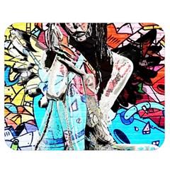 Graffiti Angel Double Sided Flano Blanket (medium)  by Valentinaart