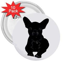 Bulldog 3  Buttons (10 Pack)  by Valentinaart