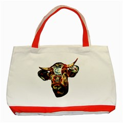 Artistic Cow Classic Tote Bag (Red)