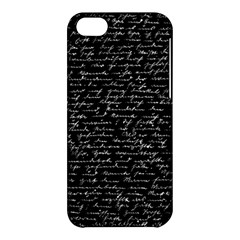 Handwriting  Apple Iphone 5c Hardshell Case by Valentinaart