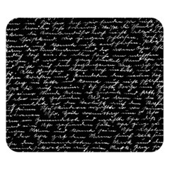 Handwriting  Double Sided Flano Blanket (small)  by Valentinaart