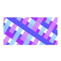 Geometric Plaid Gingham Diagonal Satin Wrap by Simbadda
