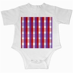 Gingham Pattern Checkered Violet Infant Creepers by Simbadda