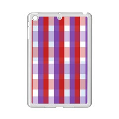 Gingham Pattern Checkered Violet Ipad Mini 2 Enamel Coated Cases by Simbadda