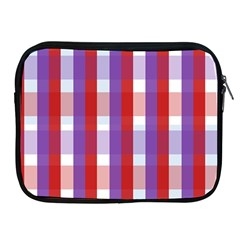 Gingham Pattern Checkered Violet Apple Ipad 2/3/4 Zipper Cases by Simbadda