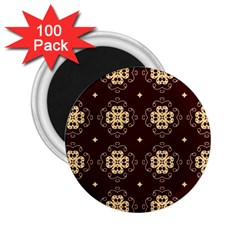 Seamless Ornament Symmetry Lines 2 25  Magnets (100 Pack)